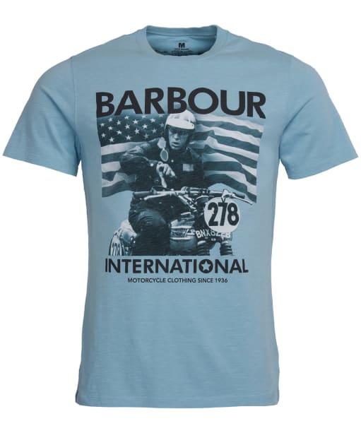 Men's Barbour Steve McQueen 278 Time Tee - Light Blue