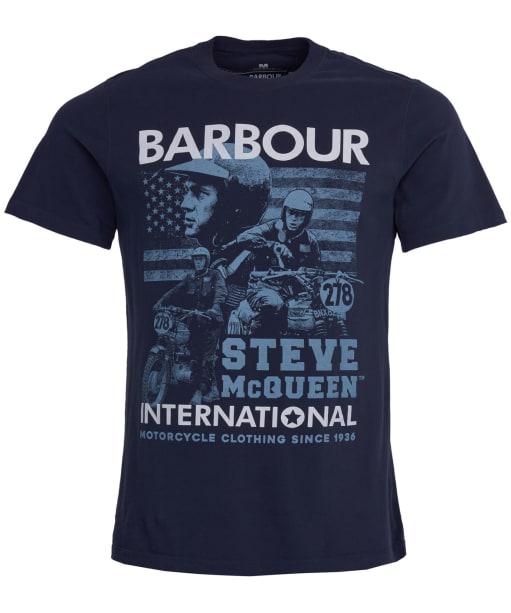 Men's Barbour Steve McQueen Collage Tee - Navy