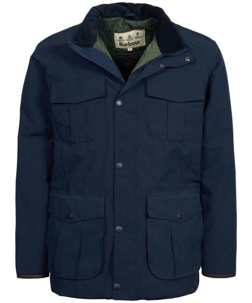 Men's Barbour Farrier Waterproof Wax Jacket - Navy