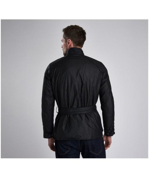 Men's Barbour International Blackwell Waxed Jacket - Black