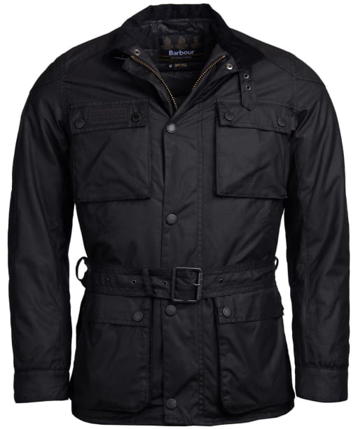 Men's Barbour International Blackwell Waxed Jacket - Black