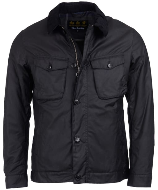 Men's Barbour Keadby Waxed Jacket - Black
