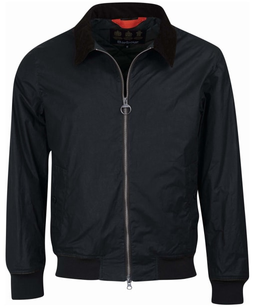 Men's Barbour Advection Waxed Jacket - Black