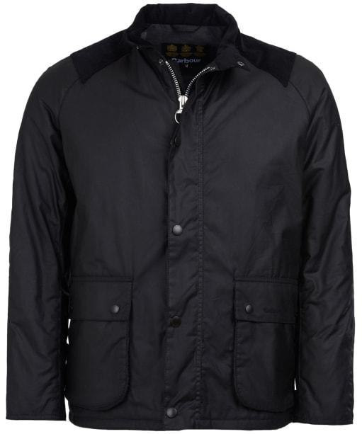 Men's Barbour Aldwark Waxed Jacket - Black