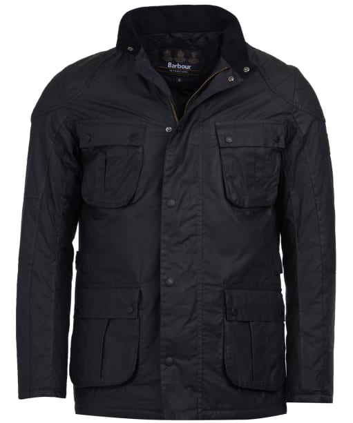 Men's Barbour International Winter Lockseam Wax Jacket - Black