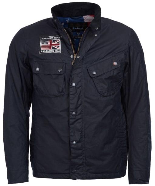 Men's Barbour Steve McQueen Lightweight 9665 Waxed Jacket - Navy