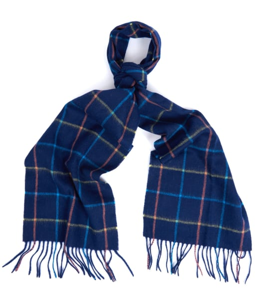Barbour Tattersall Lambswool Scarf - Navy / Blue