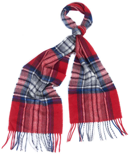Barbour Lowerfell Scarf - Red / Grey / Navy