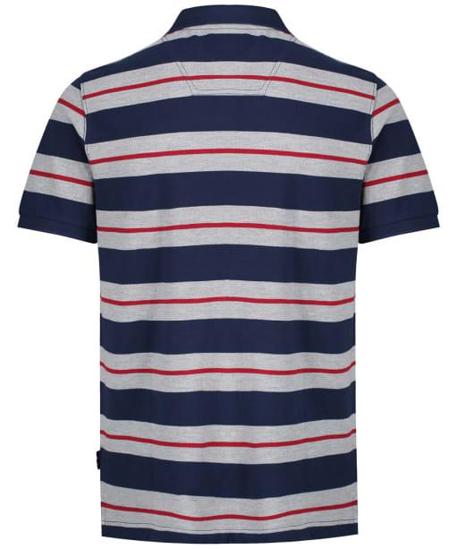 Men's Joules Filbert Polo Shirt - Navy Marl Stripe