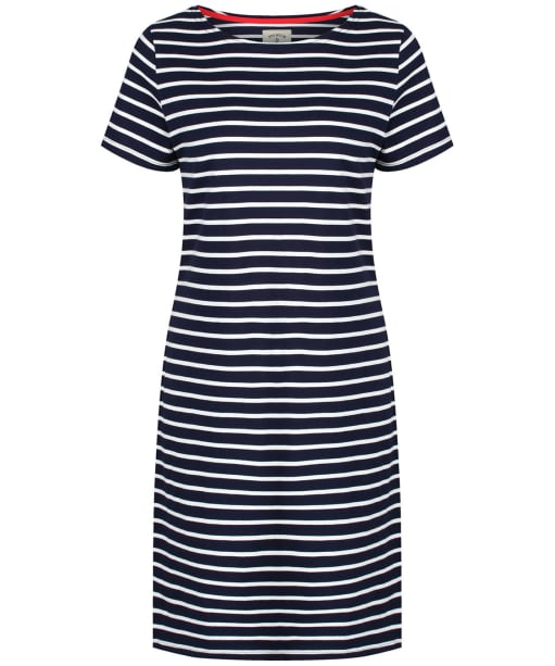 Women's Joules Riviera Jersey Dress - Navy / Cream Stripe