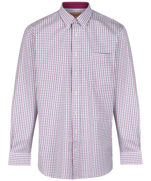 Men's Schoffel Banbury Shirt - Pink / Olive Check