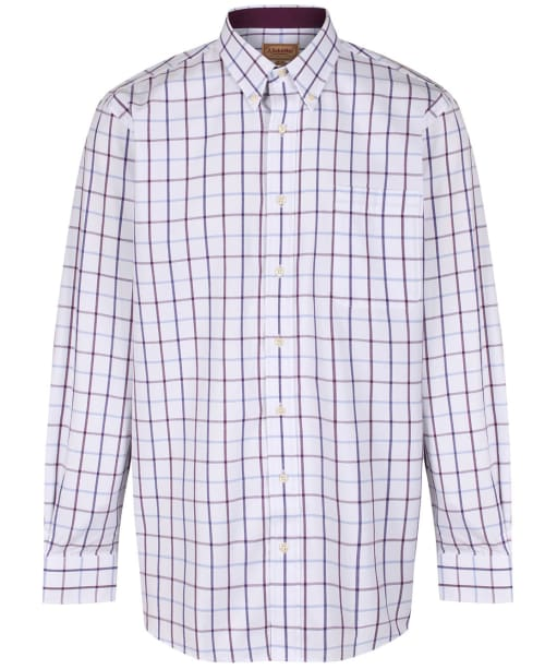 Men's Schoffel Brancaster Shirt - Purple Check