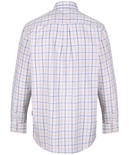 Men's Schoffel Brancaster Shirt - Navy / Brown / Yellow