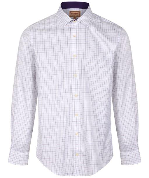 Men's Schoffel Buckden Shirt - Purple / Fig / Blue Check