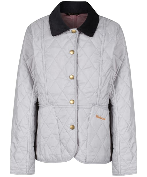 Girls Barbour Summer Liddesdale Quilted Jacket, 2-9yrs - Ice White