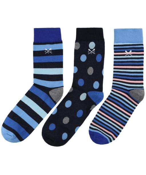Men's Crew Clothing 3 Pack Socks - Multi Stripe