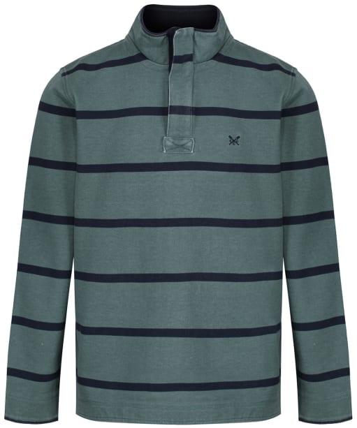 Men's Crew Clothing Padstow Pique Sweatshirt - Fern / Navy