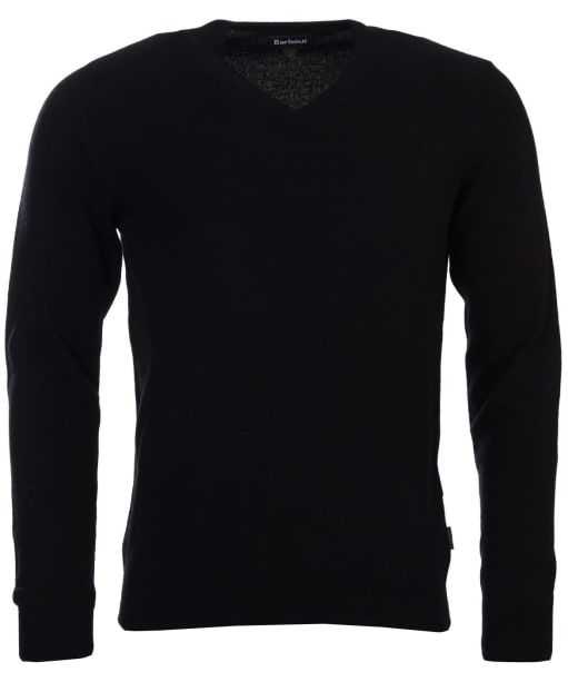 Men's Barbour Harrow V Neck Sweater - Black