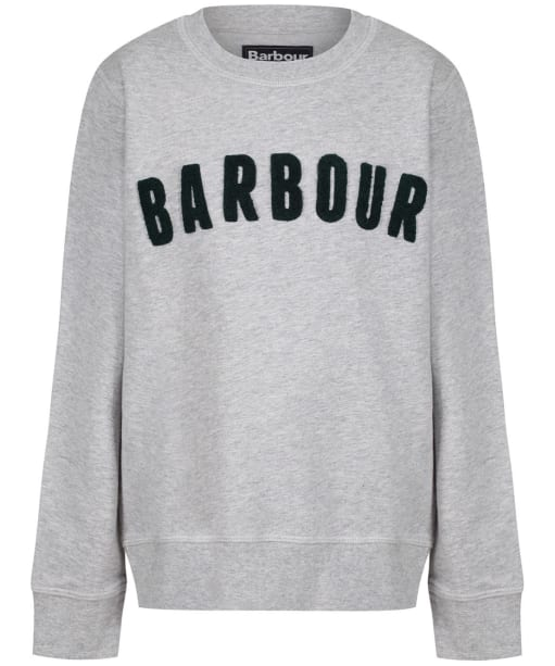Boy's Barbour Prep Logo Crew Sweatshirt, 2-9yrs - Grey Marl