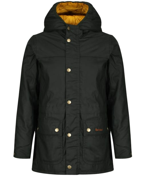 Boy's Barbour Durham Waxed Jacket, 10-15yrs - Sage