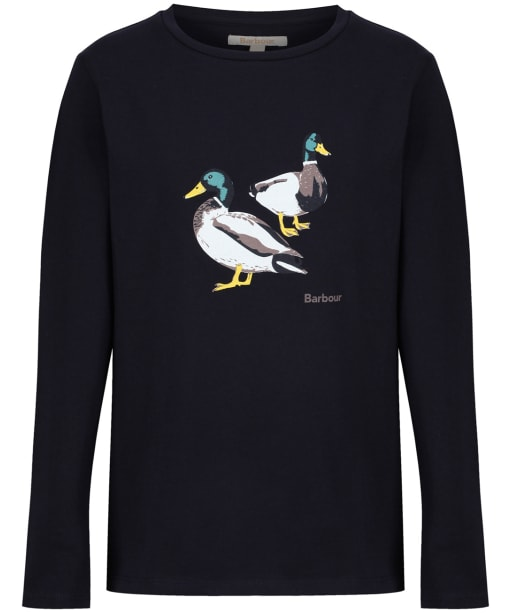 Girl's Barbour Brecon Tee, 10-15yrs - Navy