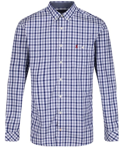 Men's Joules Abbott Classic Fit Shirt - White / Navy Check