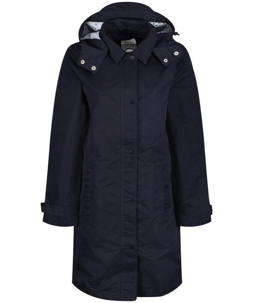 Women's Joules Headland Waterproof Coat - Marine Navy