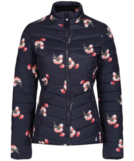 Women's Joules Harrogate Printed Padded Jacket - Navy Posy