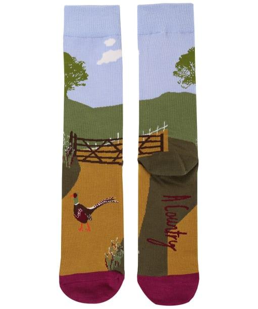 Women's Joules Brilliant Bamboo Single Socks - Blue Location