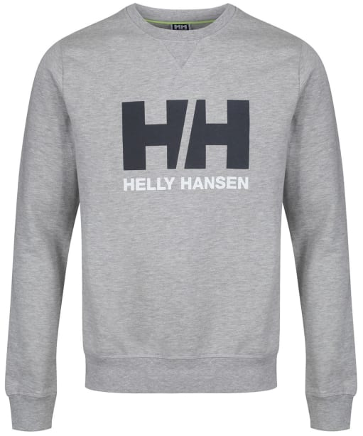 Men's Helly Hansen Logo Crew Sweater - Grey Melange