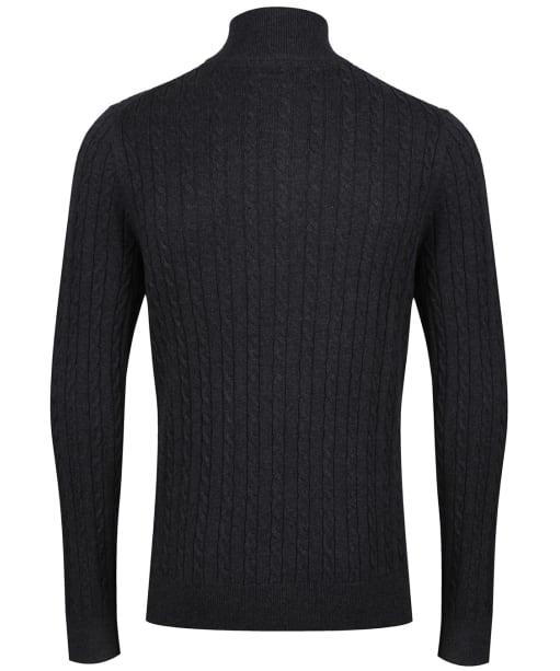 Men's Schoffel Cotton Cashmere Cable 1/4 Zip Sweater - Charcoal