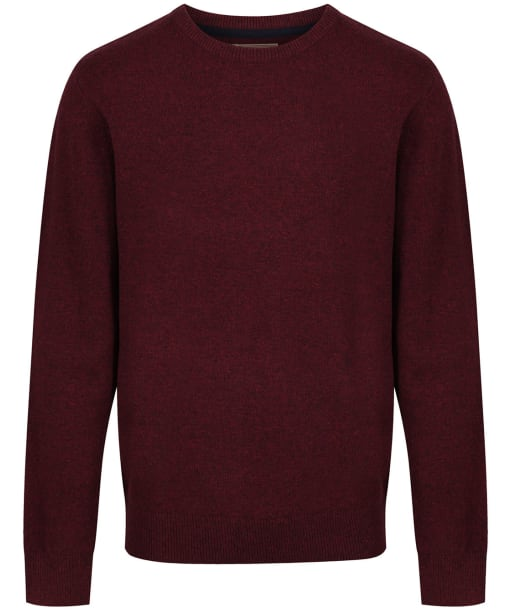 Men's Schoffel Lambswool Crew Neck Sweater - Damson
