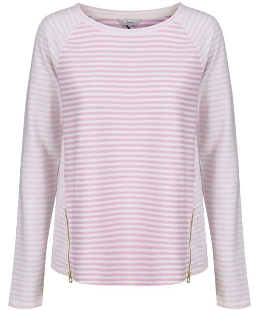 Women's Joules Adaline Jersey Top - Pink / Cream Stripe