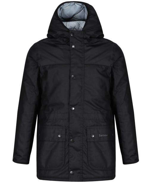 Boy's Barbour Durham Waxed Jacket, 10-15yrs - Black