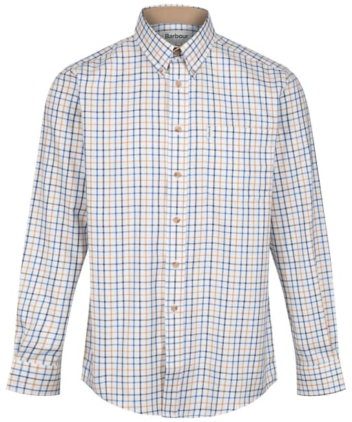 Men's Barbour Sporting Tattersall Shirt - Long Sleeve - New Blue