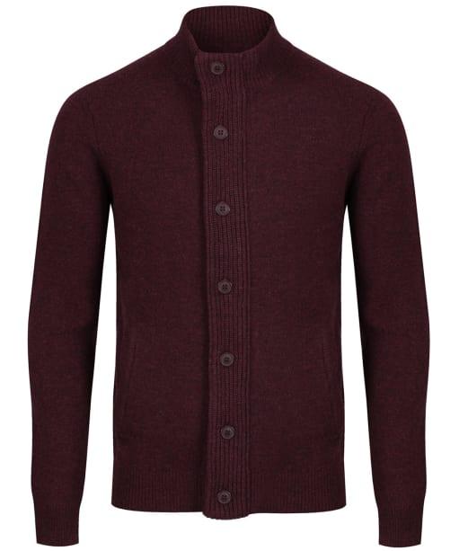 Men's Barbour Patch Zip Through Sweater - Wine