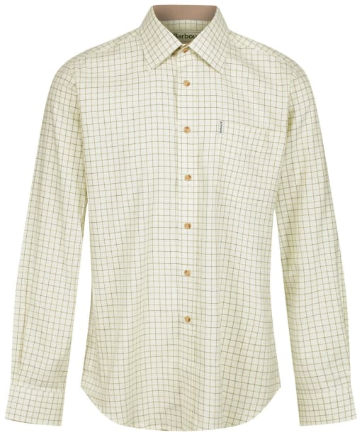 Men's Barbour Field Tattersall Shirt - Classic collar - New Green / Brown