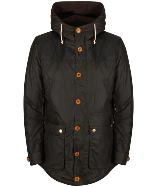 Men's Barbour Game Waxed Parka Jacket - Olive