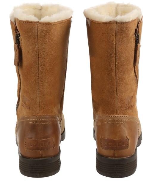 Women's Sorel Emelie Foldover Waterproof Leather Boots - Camel Brown