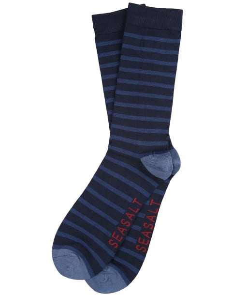 Men's Seasalt Sailor Socks - Breton Magpie