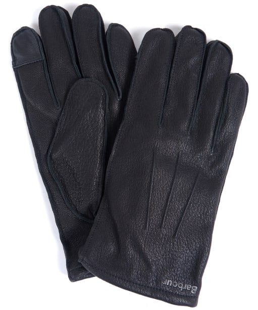 Men's Barbour Bexley Leather Gloves - Black