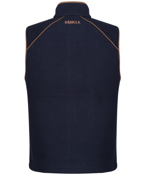 Men's Harkila Sandhem Fleece Waistcoat - Dark Navy Melange