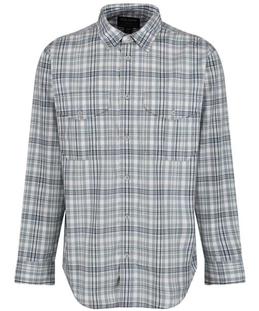 Men's Filson Feather Cloth Shirt - Light Blue / Grey / White