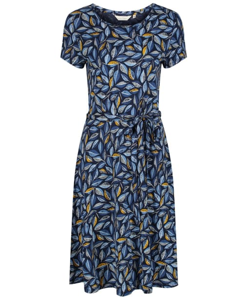Women's Seasalt Overprinting Dress - Embroidered Leaves Skipper