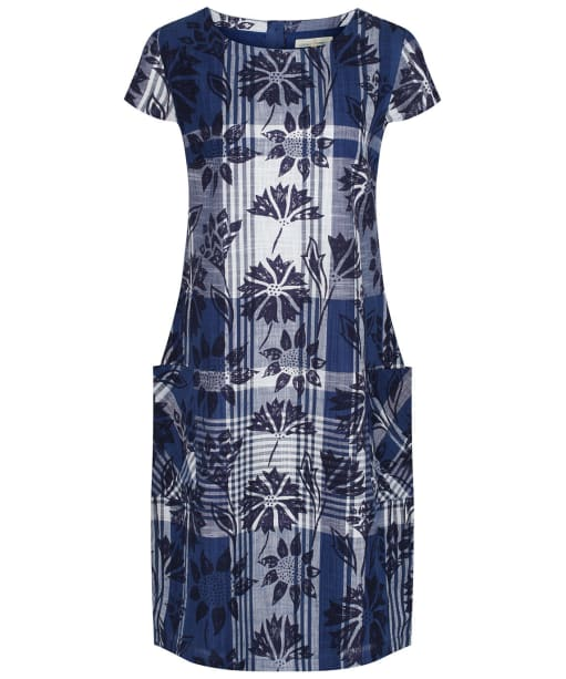 Women's Seasalt South Downs Way Dress - Sketched Motifs Marine