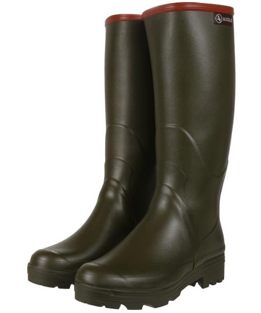 Men's Aigle Chambord Pro 2 Wellington Boots - Khaki