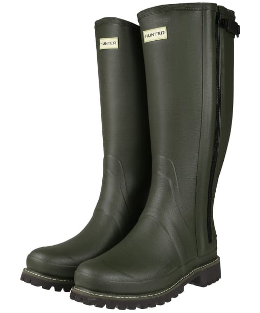 Men's Hunter Balmoral Full Zip Wellington Boots - Dark Olive