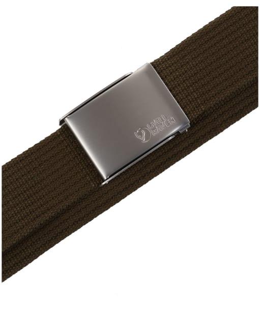 Men's Fjallraven Canvas Belt - Dark Olive