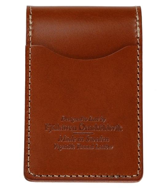 Men's Fjallraven Ovik Card Holder - Leather Cognac