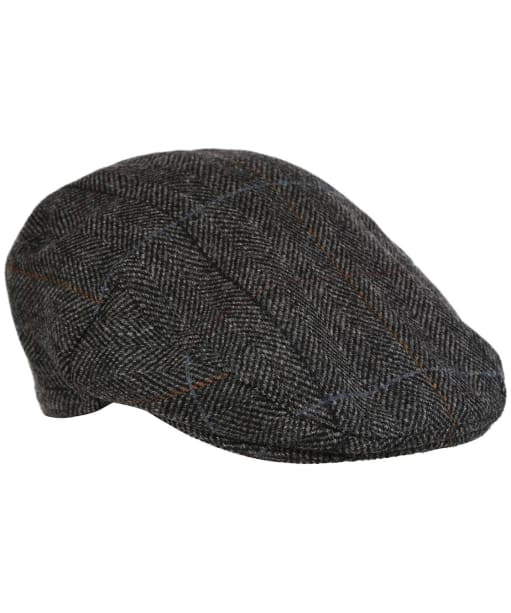 Men's Barbour Wool Crieff Flat Cap - CHARCOAL CTY CK